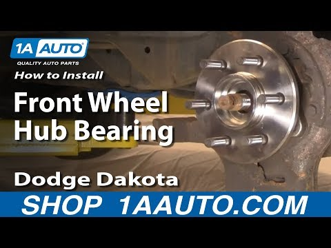 How To Install Replace Front Wheel Hub Bearing Dodge Dakota Durango 97-03 1AAuto.com