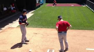 Boston Red Sox Clay Buchholz bullpen session at Citizens Bank Park (5/20/12)