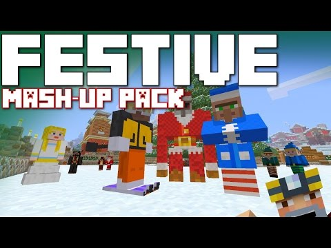 Minecraft Xbox 360/One: Festive Mash-Up Pack Review and World Tour!