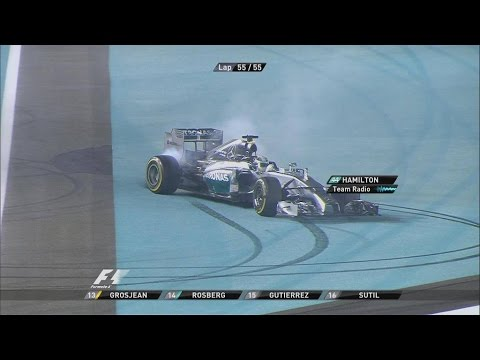 Hamilton And Button Burnout/Donuts [F1 Abu Dhabi 2014]