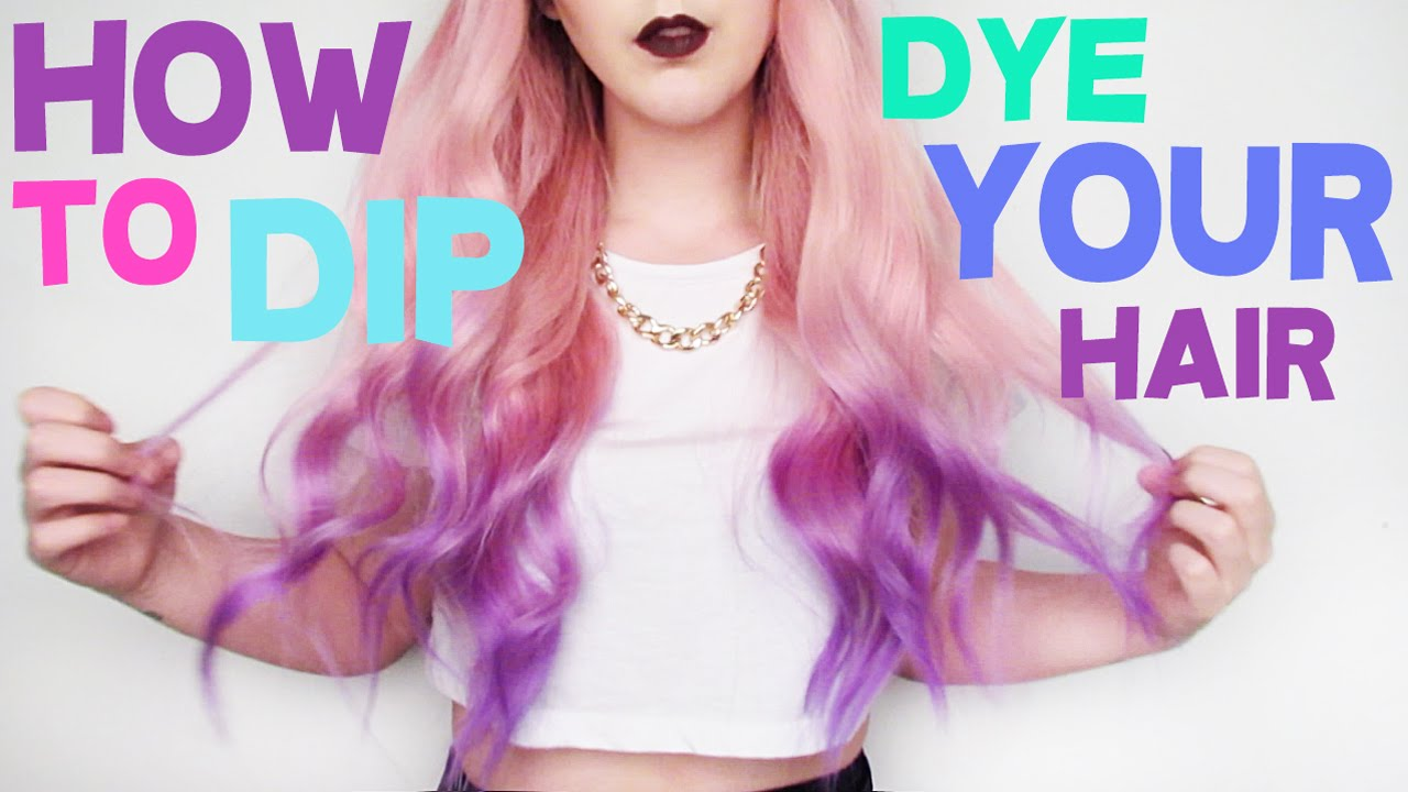 How To Dip Dye Your Hair By Tashaleelyn Youtube