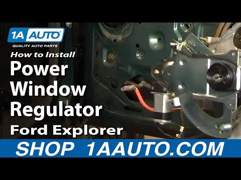 How To Install Replace Power Window Regulator Ford Explorer Sport Trac Mountaineer 91-05 1AAuto.com