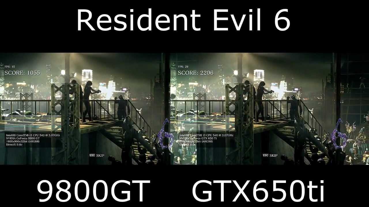 GTX650Ti Vs 9800gt YouTube