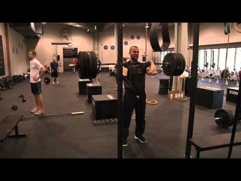 CrossFit - Mikko Salo Does Push Press WOD at Reebok CrossFit One Image 1