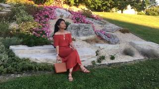 What I wore | how to style maxi dress / off the shoulder | weekend outfit