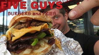Five Guys Burgers & Fries American fast food review in Utrecht Netherlands