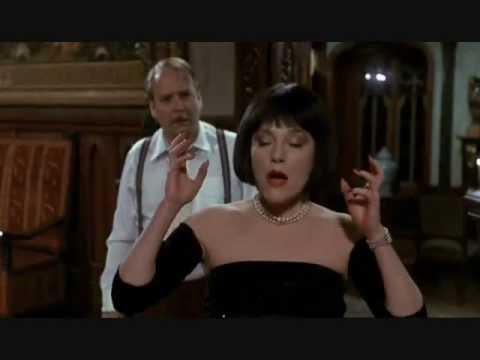 Mrs White gives the best line in the movie Clue. Flames!