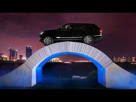 Range Rover Checkt Papierbrücke !