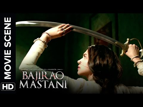 Deepika Practices Her Sword Skills | Bajirao Mastani | Movie Scene