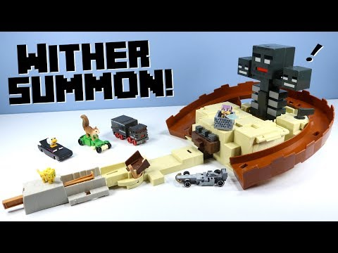 Minecraft Hot Wheels Wither Summon Stunt Track Set