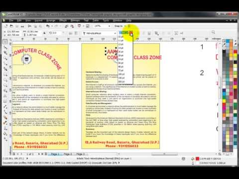 Learn CorelDRAW- Hindi Tutorials- Graphic Designing Tips
