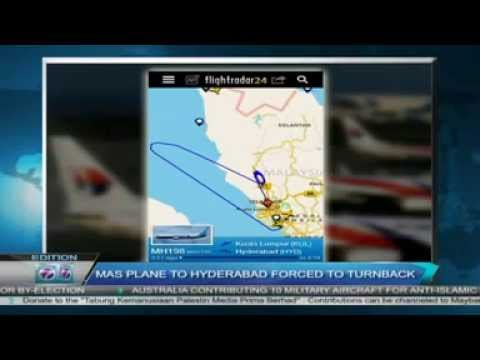 Malaysia Airlines Flight | Mas Plane MH198 to Hyderabad Forced to turnback