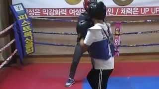 경기광주 피스트복싱클럽 스파링- 이현수[검 15세 168-69] vs 김민수[홍 13세 160-51] 첫 스파링