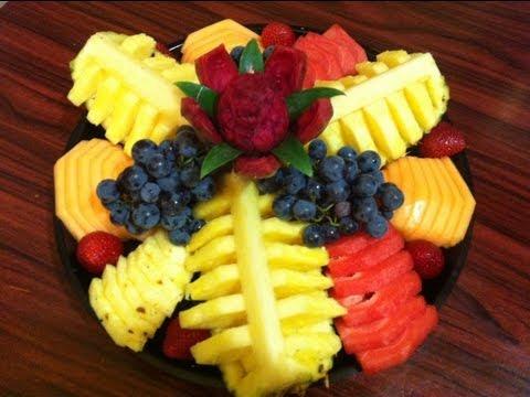 Platon de fruta para regalo o fiesta #2  Ahorra dinero hazlo tu mismo DIY