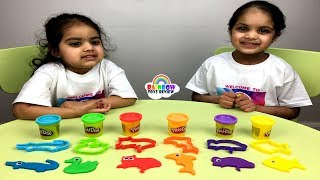 Babies Learn Colours, Animals with Play Doh and Cutters | Fun Learning Activity for Kids, Children