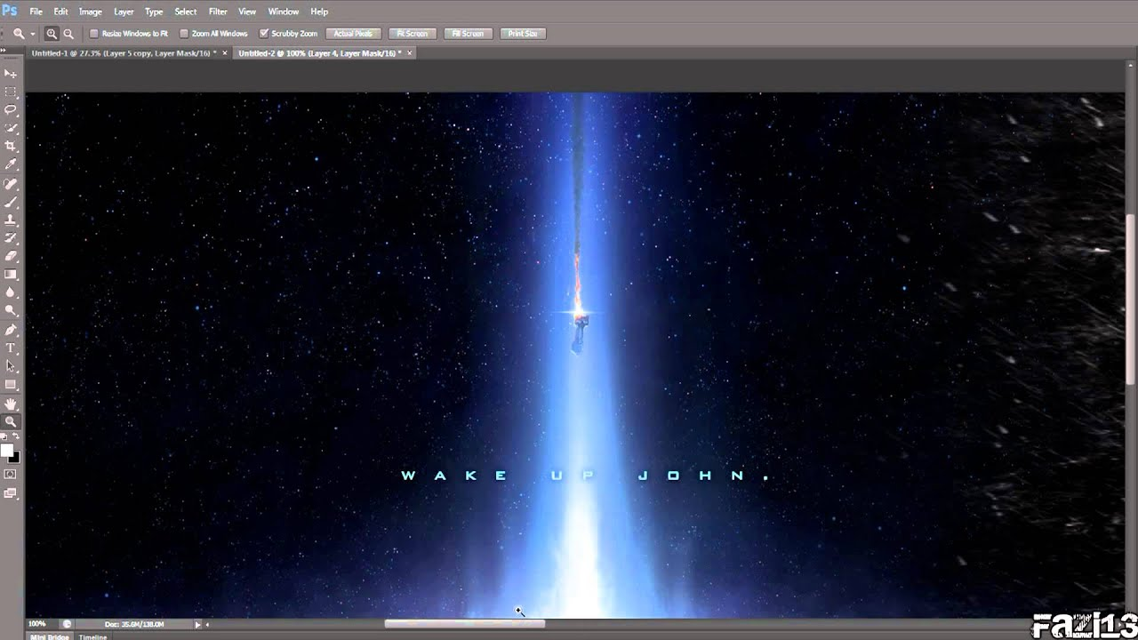 how to create a triple monitor wallpaper using adobe