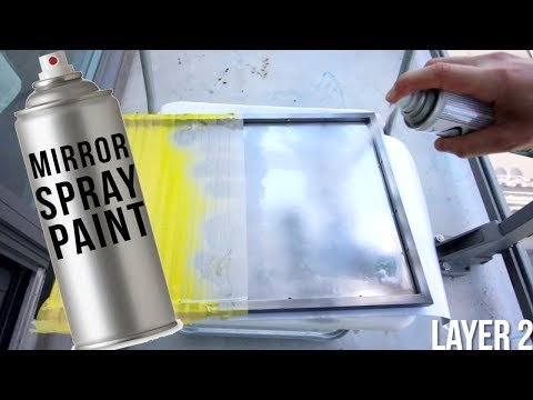 Testing out A MIRROR IN A CAN?!?!?   MIRROR Spray Paint