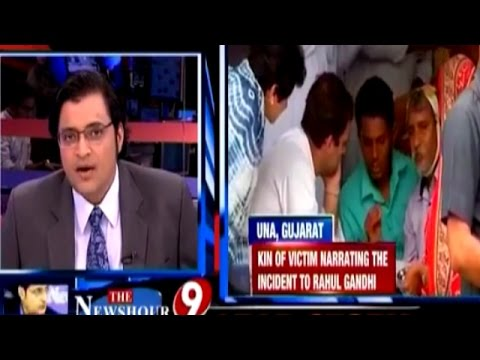 Arnab Goswami THRASHES Rahul Gandhi for Photoshoot with Dalit