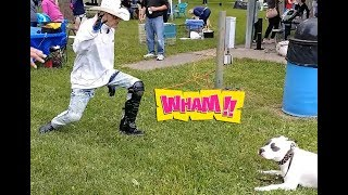 VIDEO PROOF  - Dog Whisperer Uses His Mind to Control Dogs - BIG CHUCK MCBRIDE Vs Cesar