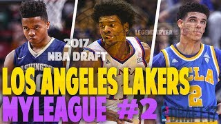 EPIC NBA DRAFT! BALL OR FULTZ?! NBA 2K17 LA LAKERS MYGM #2
