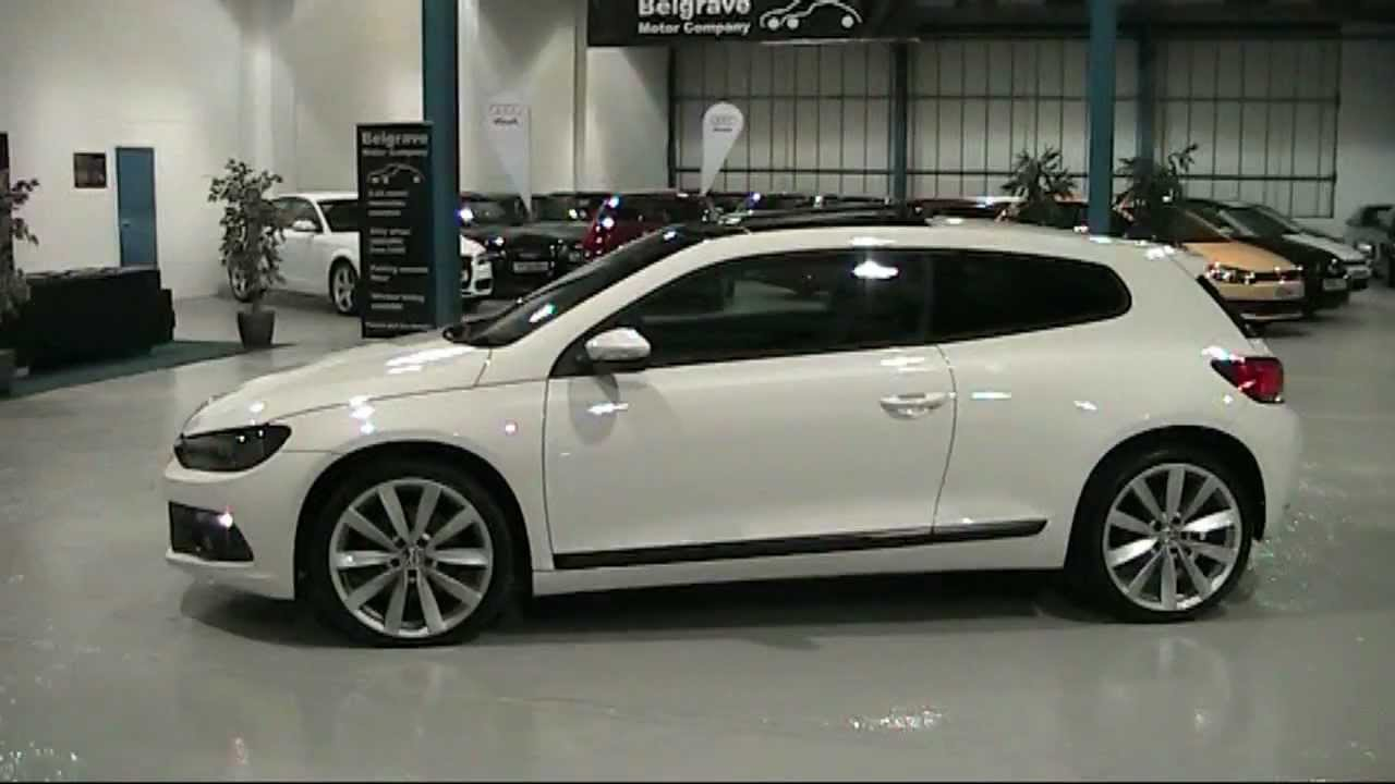 White Vw Scirocco With Panoramic Roof At Belgrave Motors