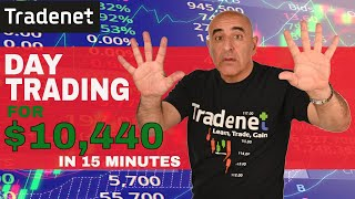 Day Trading for $10,440 in 15 minutes!