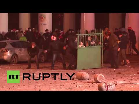 Ukraine:  Protesters launch missiles in brutal clashes in Kiev