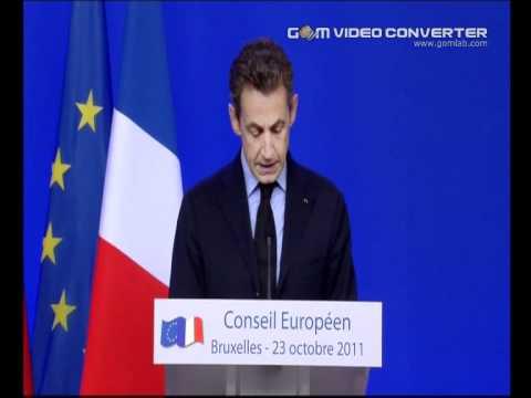 Angela  Merkel Nicolas Sarkozy 23.10.11 EUROPEAN COUNCIL 2