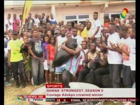 Courage Adukpo crowned Ghana strongest seasonV winner -17/7/2016