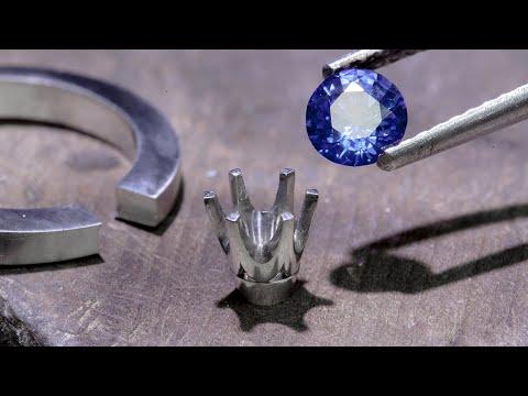 PLATINUM CEYLON SAPPHIRE RING - Part 1