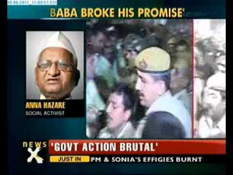 Narendra Modi, Anna Hazare slam clampdown on Baba Ramdev