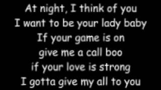 At Night I Think of You, I Want to Be Your Lady Baby -My boo Lyrics (Running Man challenge song)