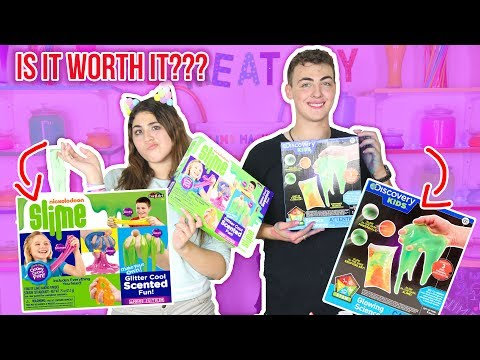 $20 SLIME KIT IS IT WORTH IT? MICHAELS SLIME KITS REVIEW! NICKELODEON. DISCOVERY  Slimeatory #73