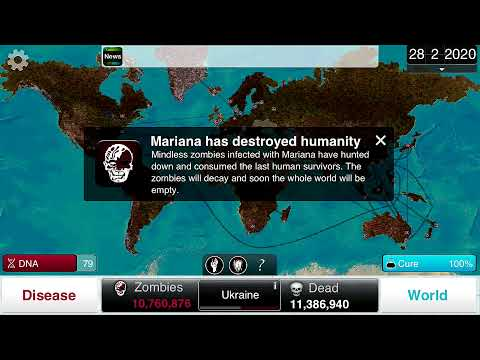 (HD) Plague Inc. - Necroa (Zombie) on Brutal - Guide w/Genetic Modifications 2013 update