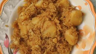 Learn How to make Rice & Aloo | Aalu & rice food cook with me | Tehri | Aalu tehari recipe
