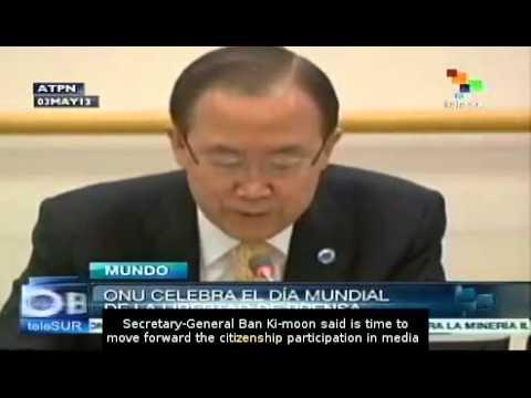 Ban Ki-Moon stresses freedom of expression