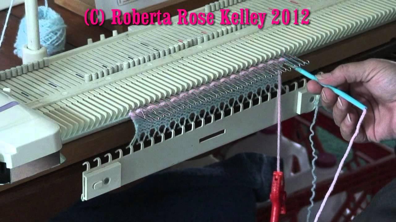 Lk150 Knitting Machine Patterns : LK150 ~ KX350 ~ Bond ~ KH230 Manual Weaving - YouTube