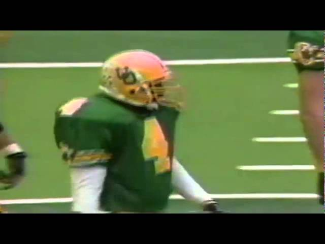 Oregon CB Herman O'Berry strips away a pass from Stanford TE Turner Baur 11-02-91