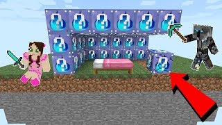 Minecraft: INSANE WATER LUCKY BLOCK BEDWARS! - Modded Mini-Game