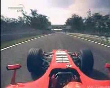 Michael Schumacher onboard Ferrari (GP Monza 2006)
