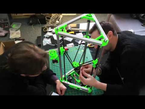 Kossel Mini 3D printer Kit build and first print