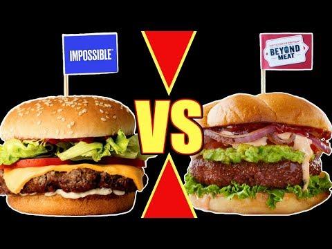 The Impossible Burger vs The Beyond Burger / Vegan Burger Taste Test