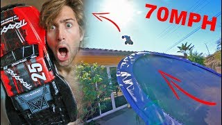 70MPH RC CAR VS HOUSE JUMP (EXTREME FAIL)