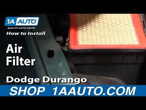 How To Install Replace Air Filter Cleaner Dodge Durango Dakota 98-03 1AAuto.com