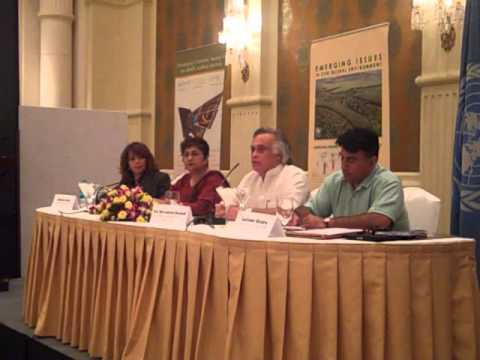 UN Media Workshop for World Environment Day 2011 - Minister Jairam Ramesh.wmv