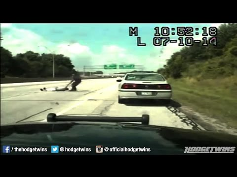 Cop Drags Drunk Fat Idiot Off Highway @Hodgetwins