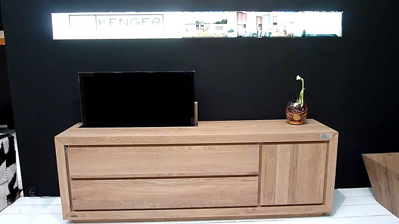 Led lcd tv lift systeem meubel van kenger meubelen uit for Tv lift slaapkamer
