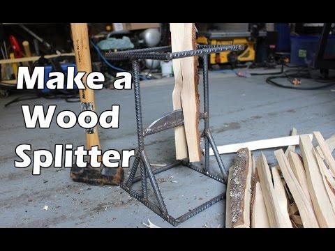 How to Make a DIY Kindling Splitter from Rebar