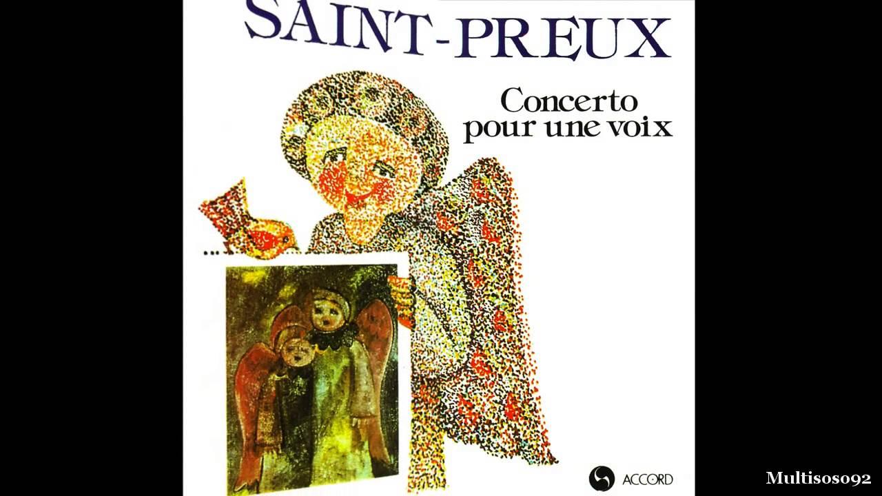 Saint-Preux - Concerto Pour Une Voix (1969) - Concerto Pour Piano ...