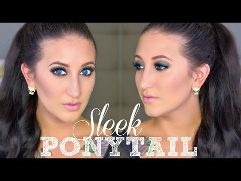 Holiday Hair Series   High Sleek Ponytail for Short Hair Using Extensions!